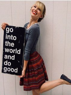 go into the world and do good.   painted Wall Decor from Barn Owl Primitives