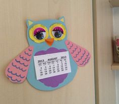 Christina Marshall made a kitchen calendar - cheerful and practical, just what we're all about. #cathkidston #bird #craft #competition