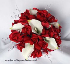 white roses red calla lillies - Google Search