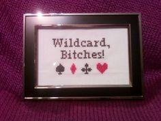 Wildcard! Cross Stitch - Charlie from It's Always Sunny in Philadelphia - NEEDLEWORK