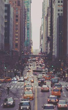 a busy city