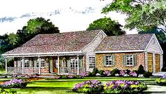 This 1 story Cottage features 1097 sq feet. Call us at 866-214-2242 to talk to a House Plan Specialist about your future dream home!