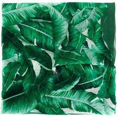 Dolce & Gabbana banana leaf print scarf
