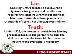 I-522 requires no costly testing for GE ingredients. No burdensome government oversight is necessary. The system is inherently designed to protect small grocers and retailers while providing consumers with the right to know what's in their food without increasing grocery costs.