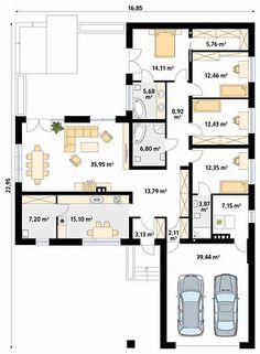 Sims House Plans, Bungalow House Plans, House Floor Plans, Carport Garage, Sims 4 Houses, Facade House, Bungalows, Simple House, Planer