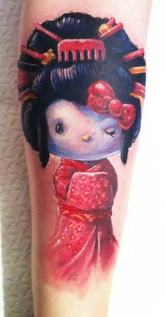 Geisha is an age old art which is now gaining popularity in tattoos. Geishas, the Japanese entertainers can be depicted in form of geisha tattoos. Geisha Tattoos, Geisha Tattoo Design, Forearm Tattoo Design, Great Tattoos, Beautiful Tattoos, Body Art Tattoos, Tatoos, Nerd Tattoos, Girly Tattoos