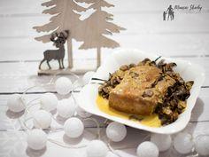 Schab duszony z pieczarkami #schab #pieczarki #obiad #schabzpieczarkami Ale, Food, Ale Beer, Essen, Meals, Yemek, Eten, Ales, Beer