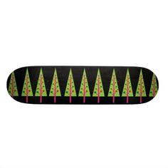 Christmas Trees Skateboard #Christmas #Tree #Skateboard #Sports