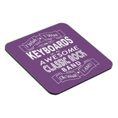 KEYBOARDS awesome classic rock band (wht) Coaster - blue gifts style giftidea diy cyo