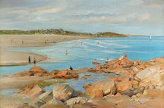 Good Harbor Beach, Gloucester | From a unique collection of landscape paintings at https://www.1stdibs.com/art/paintings/landscape-paintings/