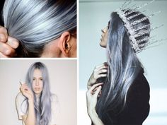pastel hair color faded silver blue.