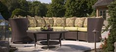 Yacht Club 5 piece sectional- Available in Java or White Wash. #OutdoorLiving #Hauser