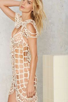 For Love & Lemons Barcelona Crochet Cover-Up - Clothes | The Swim Shop | Vacation Shop | Day | Cover Ups