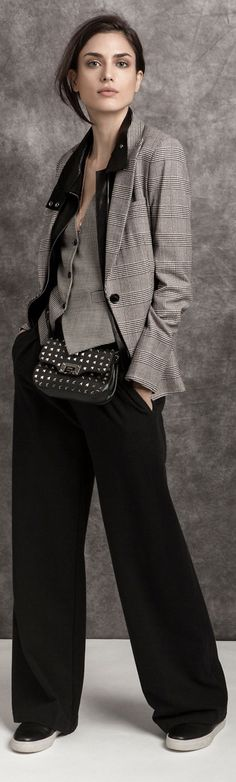 New sport chic feminino traje Ideas Office Fashion, High Fashion, Womens Fashion, Fashion Trends, Work Fashion, How To Have Style, My Style, Estilo Tomboy, Tweed