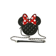 Loungefly Disney Quilted Minnie Mouse Crossbody Bag Hot Topic ($40) ❤ liked on Polyvore featuring bags, handbags, shoulder bags, quilted chain shoulder bag, crossbody handbag, zipper purse, quilted shoulder bag and zip purse