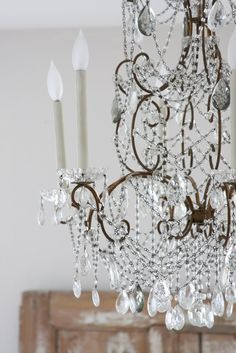 Hello Everyone! I hope you are all having a great week! I am sorry I didn't get this post together sooner. I will share more of the part. French Chandelier, Antique Chandelier, Chandelier Lighting, Chandeliers, Candle Shades, French Decor, Wedding Programs, Cool Lighting, Hello Everyone