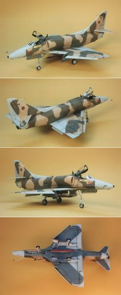 """""""Fake MiG"""" A Deceptively Painted A-4E Aggressor by David W. Aungst (Haseagwa 1/48)  http://www.hyperscale.com/features/2001/a4mig17da_1.htm"""
