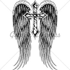 Cross With Wings Tattoo For Girls | cross with wings tattoo for women - Yahoo! Search ... | Tattoo Ideas