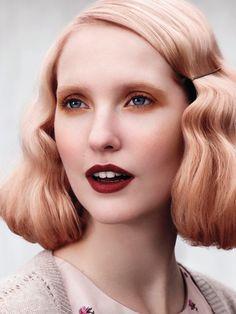 winter peach hair color - Google Search                                                                                                                                                      More