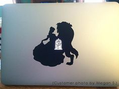Macbook Beauty and the Beast Decal Belle Beast by PennavirCrafts