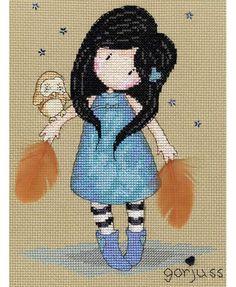 Gorjuss The Owl Cross Stitch Kit £23.00 | Past Impressions | Bothy Threads