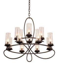 Kalco Lighting Grayson 12 Light Chandelier in Heirloom Bronze 2675HB/1100 #lightingnewyork #lny #lighting