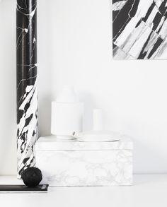 FAUX marble Playtype poster   Serax Maison dêtre vase    Lovatt candle holder