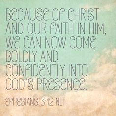 Because of Christ and our faith in Him | Ephesians 3:12 | #hellomornings #gloriousgrace