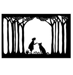 lovely papercut by Cynthia Ferguson depicting Little Red Riding Hood #paper #art #fairytales