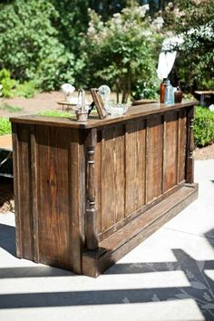 Outside mini bars are provided in every trendy and standard sorts, making it simple to seek out the right one for you. Outside mini bar furnishings is attending to be a shortly… Continue Reading → Mini Bars, Patio Bar, Backyard Bar, Patio Table, Backyard Ideas, Bar Western, Bar Country, Bar Vintage, Vintage Decor