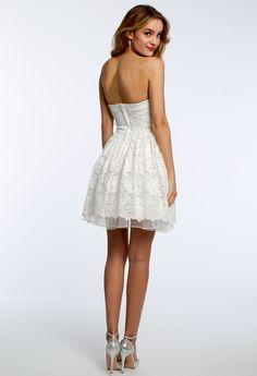 Lace Strapless Dress #camillelavie