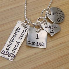 metal stamped necklace ideas