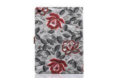 Flipcover aus Leder mit schöner Blumen für iPad Air 2 - spitzekarte.com
