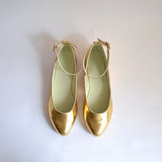 Mia ankle strap pointed flats - handmade to order by goldenponies