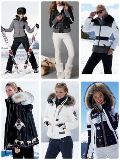 Ropa de moda para esquiar Snow Fashion, Winter Fashion, Fashion Women, Apres Ski Party, Cute Beach Outfits, Moda Outfits, Snow Outfit, Parka Style, Ski Wear