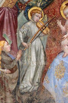 Ottaviano Nelli  - Madonna del belvedere, dettaglio - 1417 circa - Chiesa di Santa Maria Nuova, Gubbio