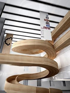 Interior Design Plants, Interior Design Presentation, Grey Interior Design, Restaurant Interior Design, Interior Design Living Room, Staircase Railings, Modern Staircase, Staircase Design, Stairways