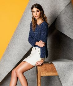 Sweater and skirt | Available online