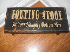 Pouting stool! This is so cute!