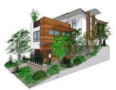 3 bdrm hillside house