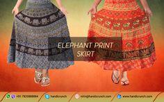 #ValentinesDay #weekend day #giftideas #Online indian #Jaipur #Elephant  print #Skirt Colorful #love2 @handicrunch