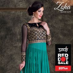 Glam and grandeur into one salwar. Ask for Zoha collection at a #Soch store. #RedDotSale