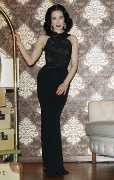 Dita Von Teese Evening Dress Dita Von Teese showed off her kille rfigure at  the My Cointreau Travel Essentials launch in a black curve-hugging evening  gown. a17fc6c0982d