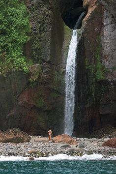 Halawa Valley on the east end Hike to this waterfall 75 dollars for a guided tour idk if we can go ourselves or not but its a two mile hike.. not bad
