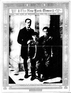 Consuelo Vanderbilt's Two Sons | New York Times (22 Dec 1907) The Duke of Marlborough and his two sons.