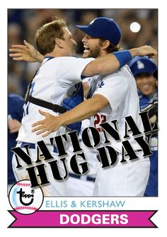 Dodgers Blue Heaven: Celebrating #NationalHugDay with some Fantasy Baseball Cards