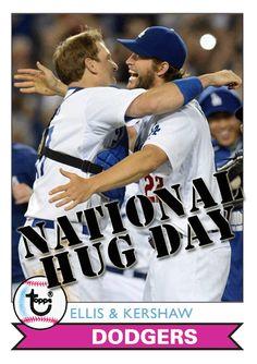 Dodgers Blue Heaven: Celebrating #NationalHugDay with some Fantasy Baseball Cards