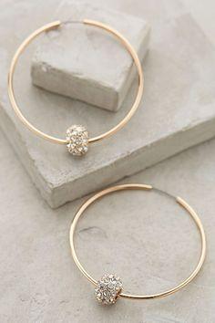 Jeweled Orbit Hoops - anthropologie.com