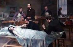 "Transfusión de sangre de cabra (""Transfusion de sang de chèvre""). Jules Adler. 1892. Localización: Musée d'Histoire de la Médecine (París). https://painthealth.wordpress.com/2015/12/07/transfusion-de-sangre-de-cabra/"