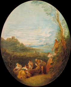 Springtime by Jean-Baptiste Pater, c. Age Of Enlightenment, Google Art Project, French Rococo, Jean Baptiste, Four Seasons, Art Google, Spring Time, 18th Century, Art Projects